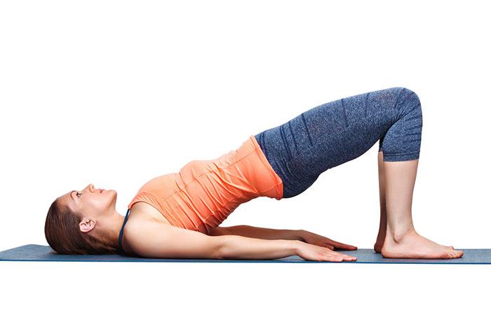 Setu Bandhasana The Bridge Yoga Pose
